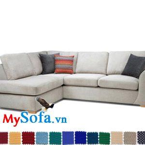 Ghế sofa góc chữ L chất liệu nỉ