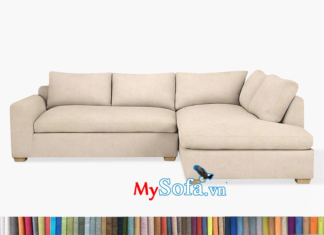 Mẫu sofa góc L kích thước nhỏ gọn giá rẻ