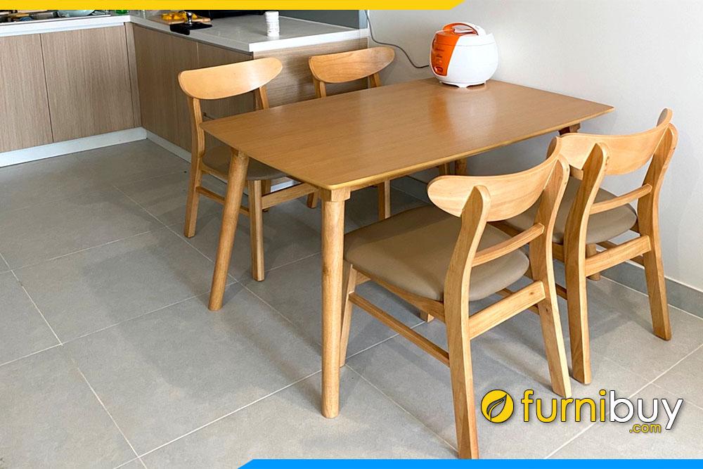 Giao khách bộ bàn ăn 4 ghế mango đẹp giá rẻ tại nhà chị Hương BA023