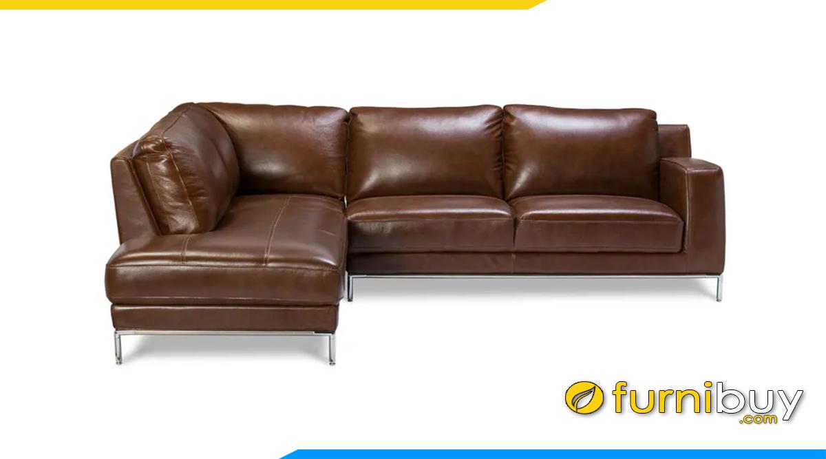 sofa da góc chữ l