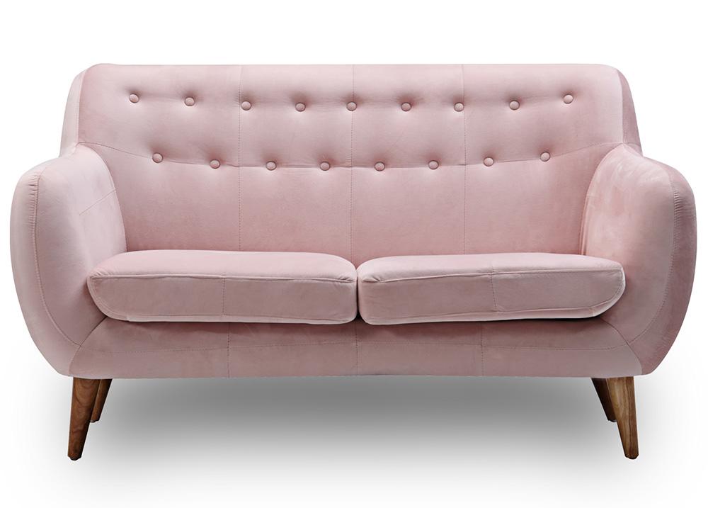 sofa văng nỉ hồng cho phòng ngủ