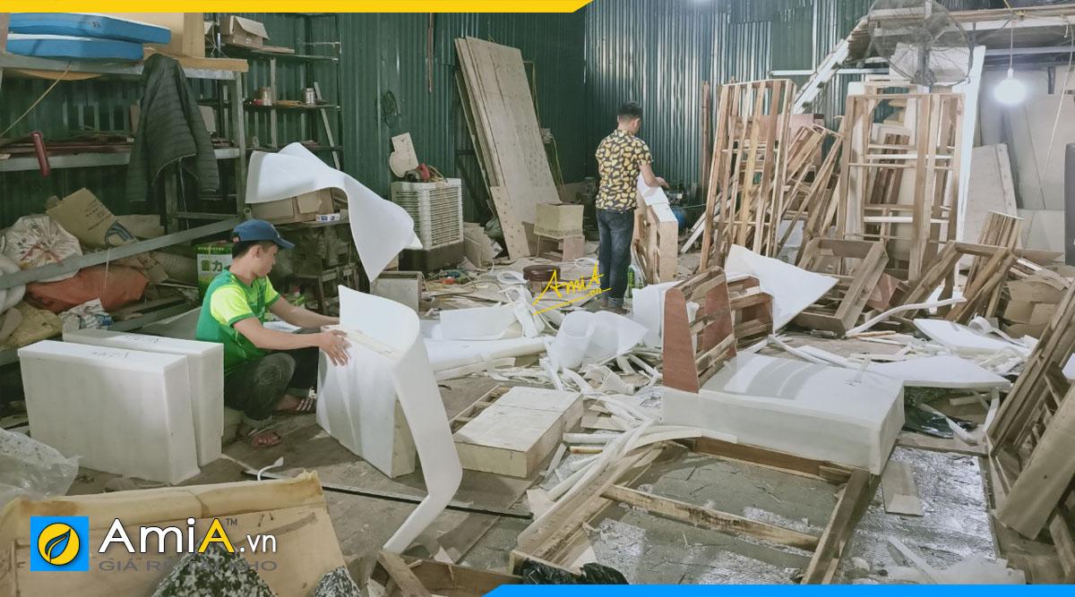 Ảnh xưởng sản xuất sofa theo yêu cầu