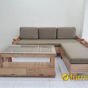 mẫu sofa gỗ sồi đẹp hiện đai